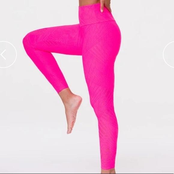 Onzie Hot Pink Selenite High Rise Leggings S/M